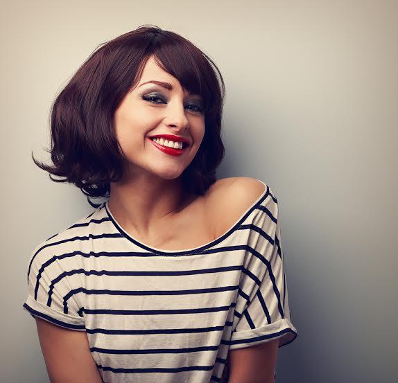 Taglio di capelli ideale per viso ovale