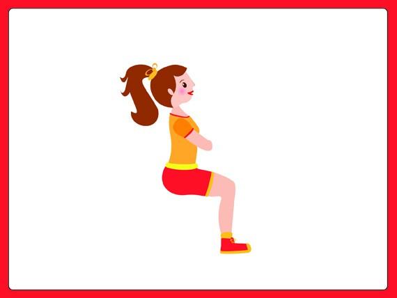 sovrappeso: esercizi per dimagrire wall sit