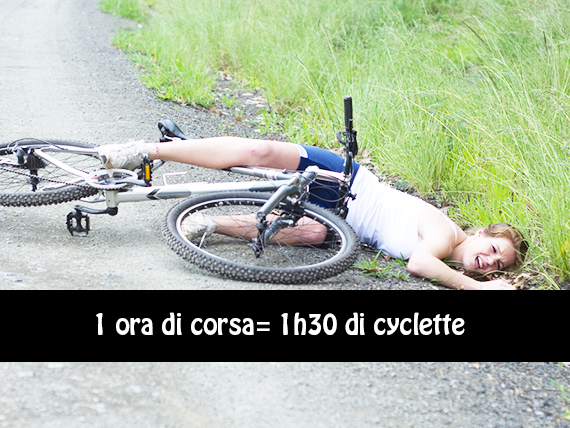 bruciare calorie con la cyclette