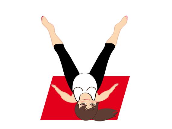 la posizione dell'angolo sul dorso nello yoga in gravidanza