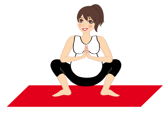 la posizione per favori il parto nello yoga in gravidanza
