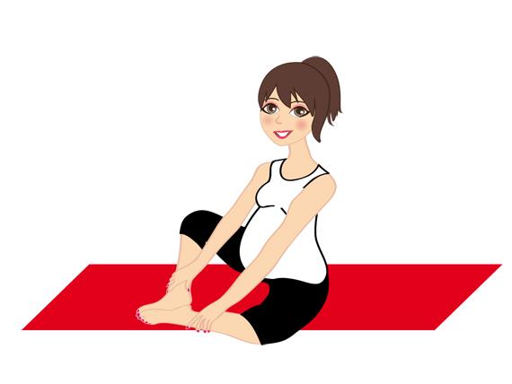 la posizione di Adity nello yoga in gravidanza