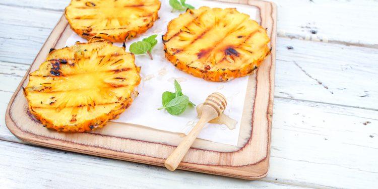 ananas grigliato: ricette light