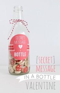 messaggio d'amore bottiglia san valentino