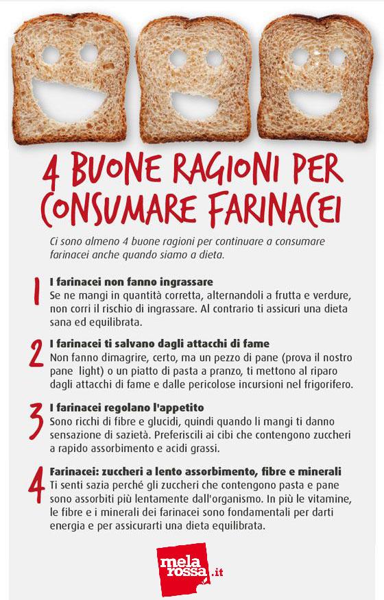tabella motivi per mangiare carboidrati a dieta