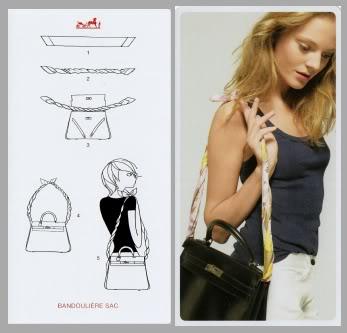 il foulard come manico della borsa