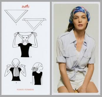 il foulard come bandana