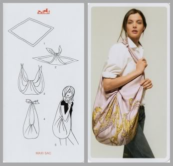 il foulard come shopping bag