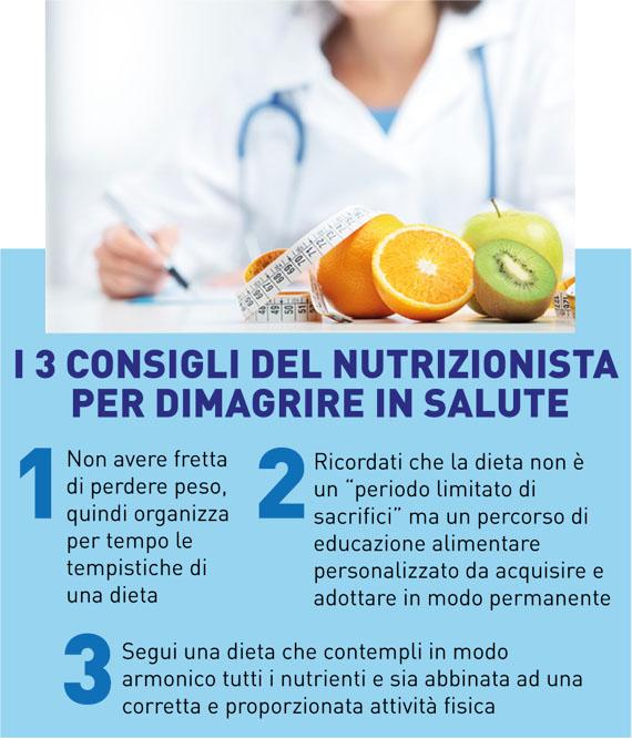 3 consigli del nutrizionista per dimagrire in salute