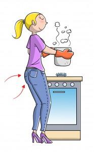 tonificare glutei cucinando