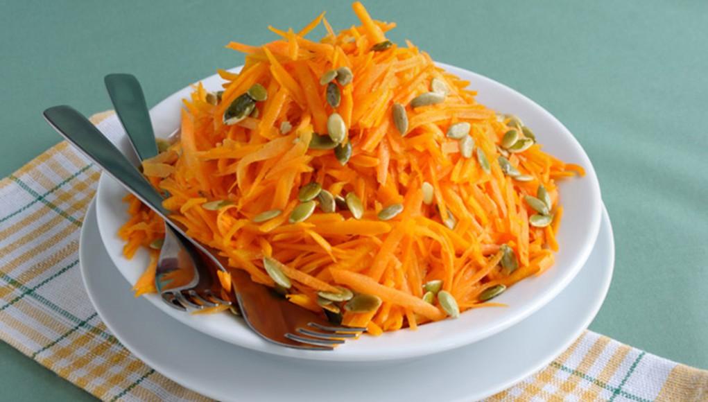 ricetta insalata di carote e semi di zucca