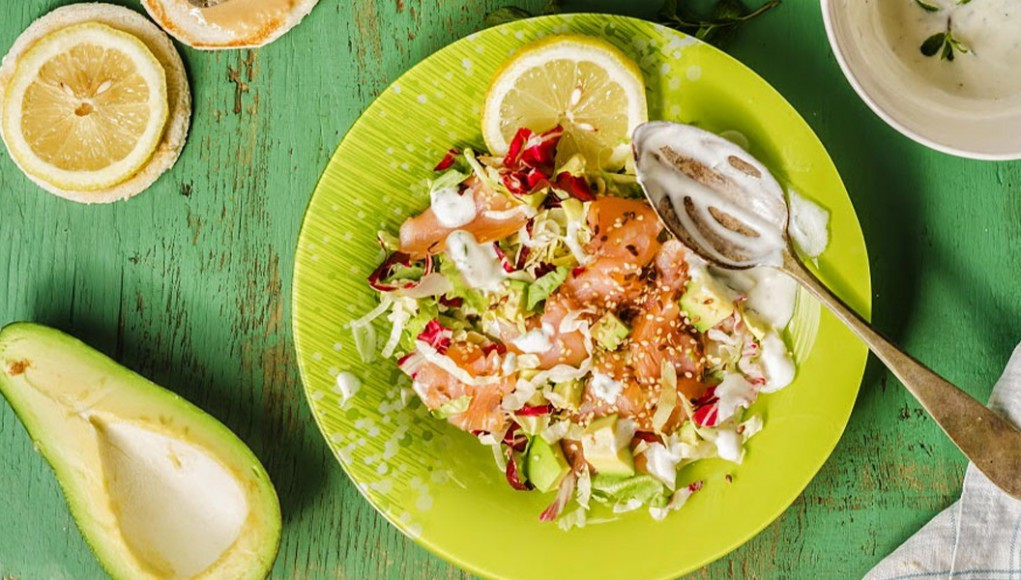 ricetta insalata di salmone marinato e yogurt