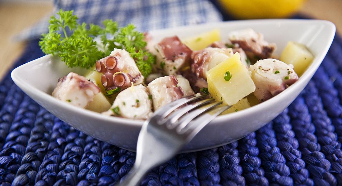 ricette con patate: polpo