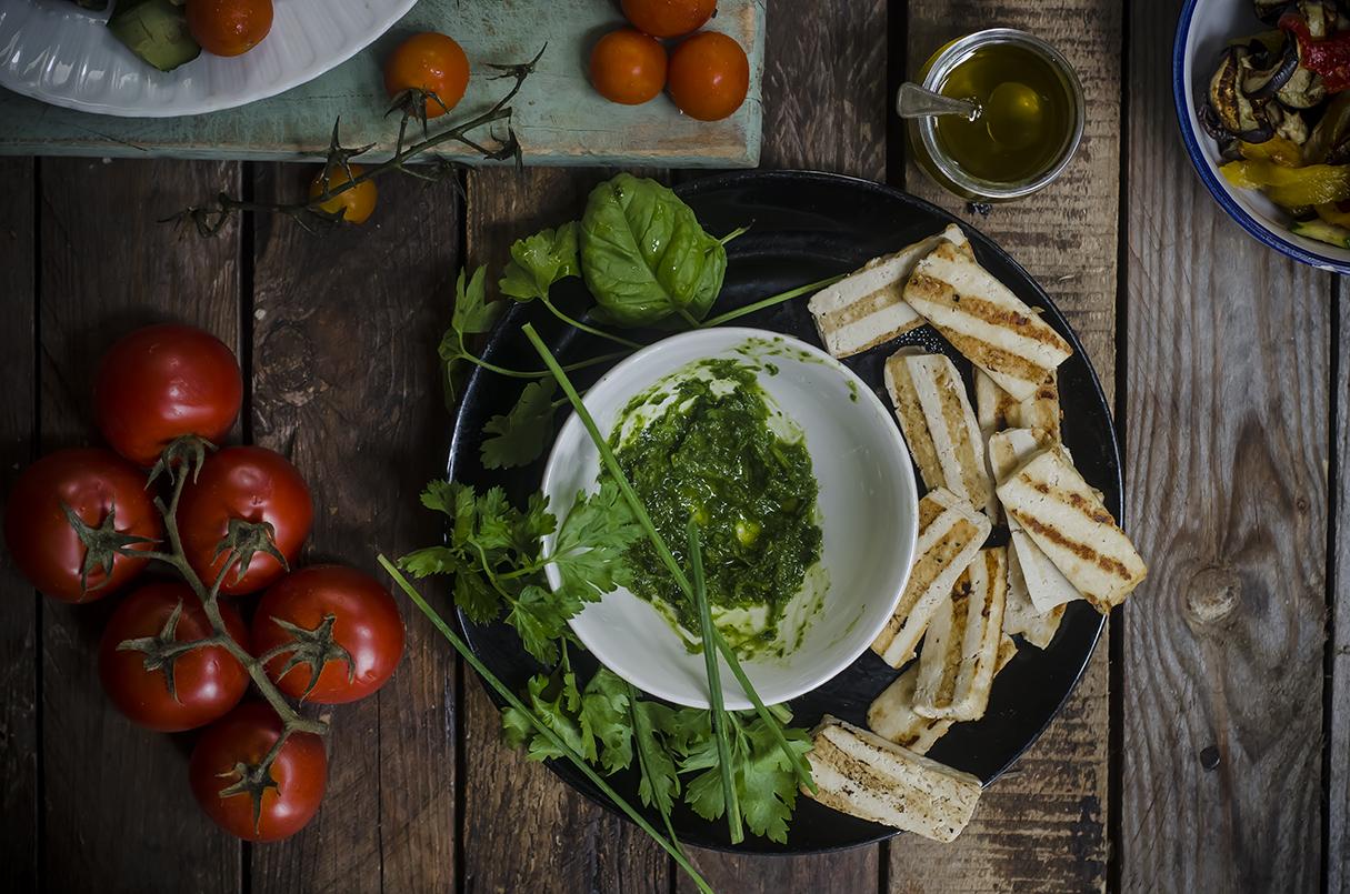 ricetta per insalata di verdure e tofu step quattro