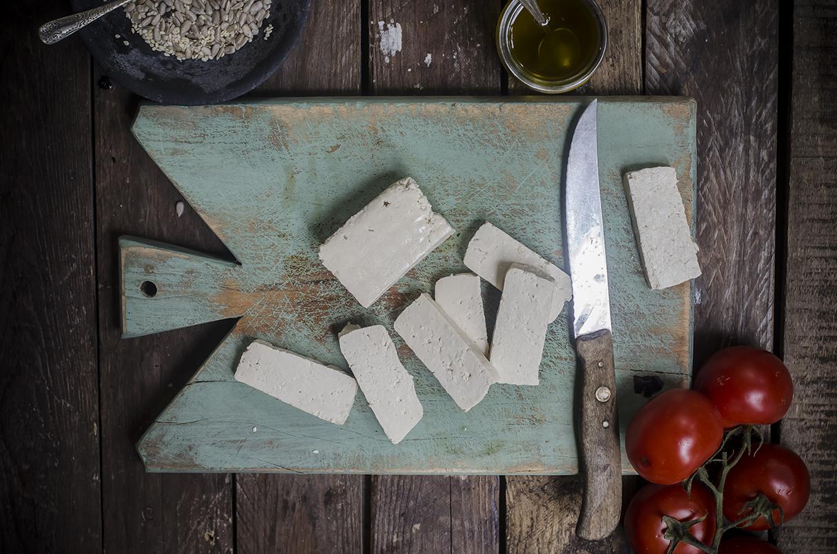 ricetta per l'insalata di tofu step tre