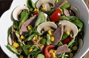 ricetta insalata di funghi Champignon e tonno
