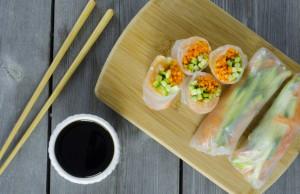 ricetta involtini primavera di granchio e verdure