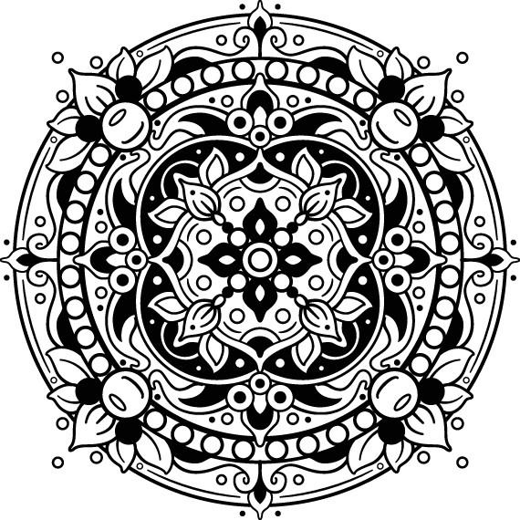 mandala da disegnare
