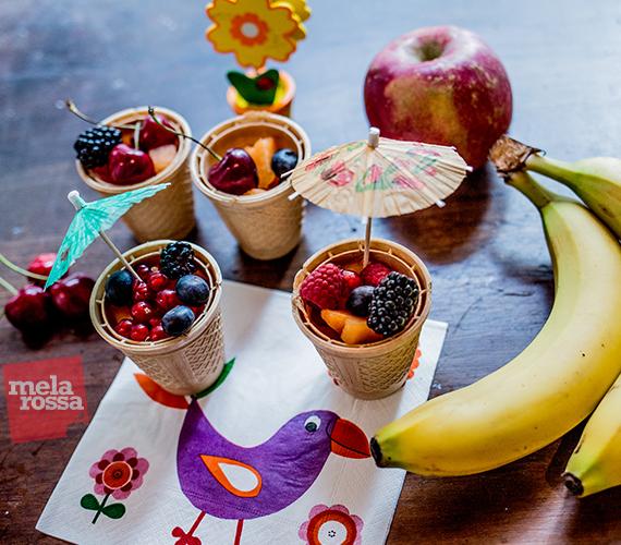 Idea originale per la merenda dei bambini con frutta
