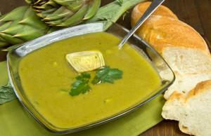 ricetta minestra con patate e carciofi