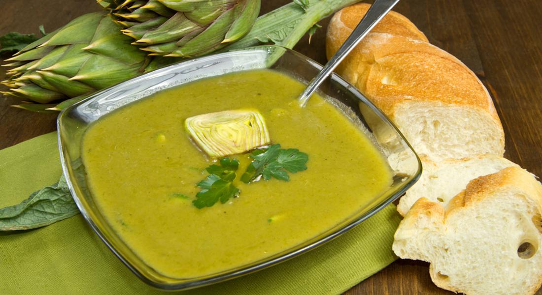 minestra e zuppa: ricetta minestra con patate e carciofi