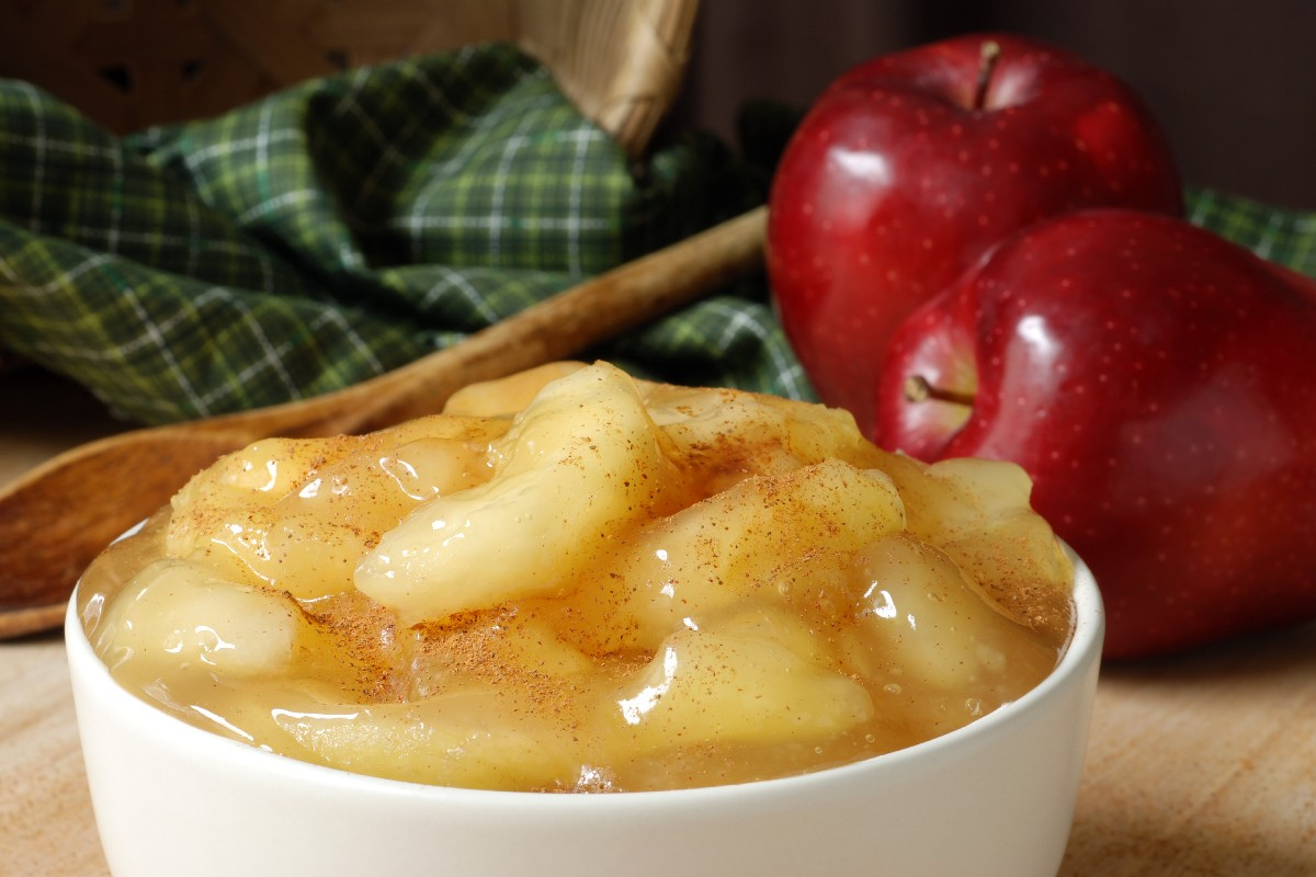 mousse di mela saporita e sana
