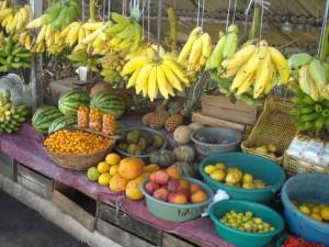 banchi della frutta e delle verdure in natal