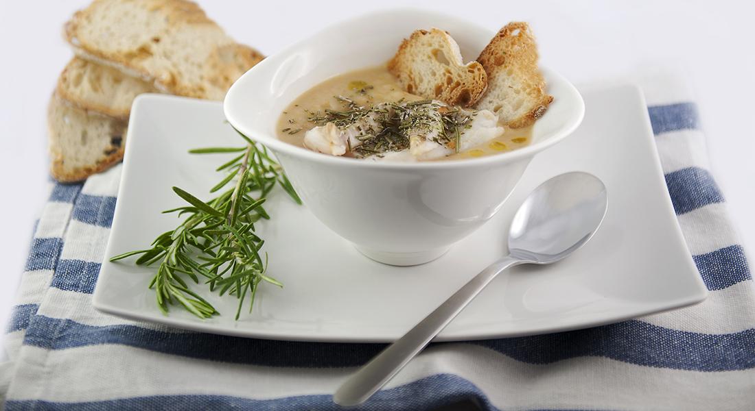 la ricetta per la passata di fagioli e merluzzo