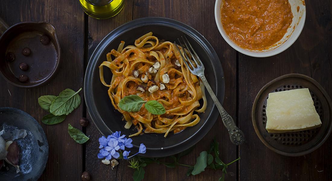 ricette con peperoni pesto di peperoni e nocciole