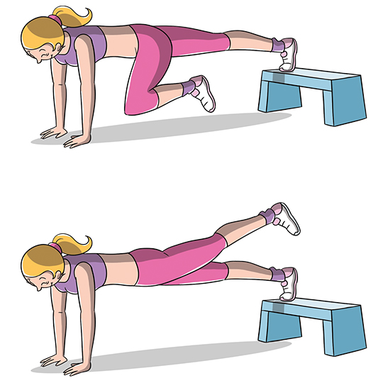 esercizi gambe e glutei tonici, esercizio plank