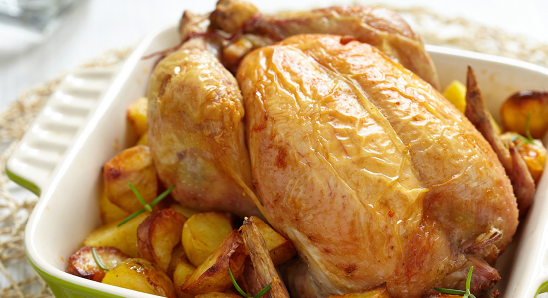 ricette con patate: pollo al forno light e gustoso