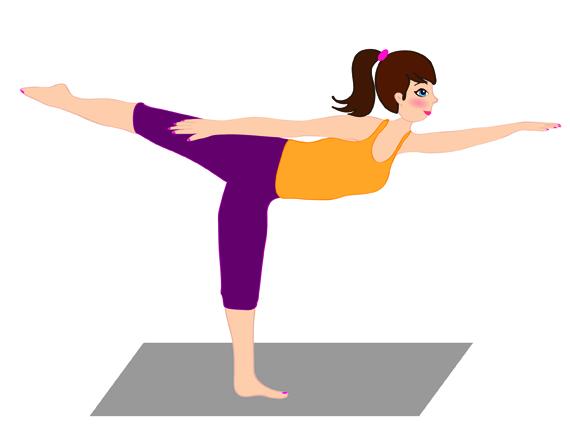Yoga e sesso: posizione Ardha Natarajasana