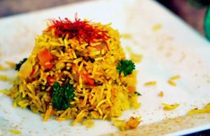 la ricetta per preparare il riso con verdure e curcuma