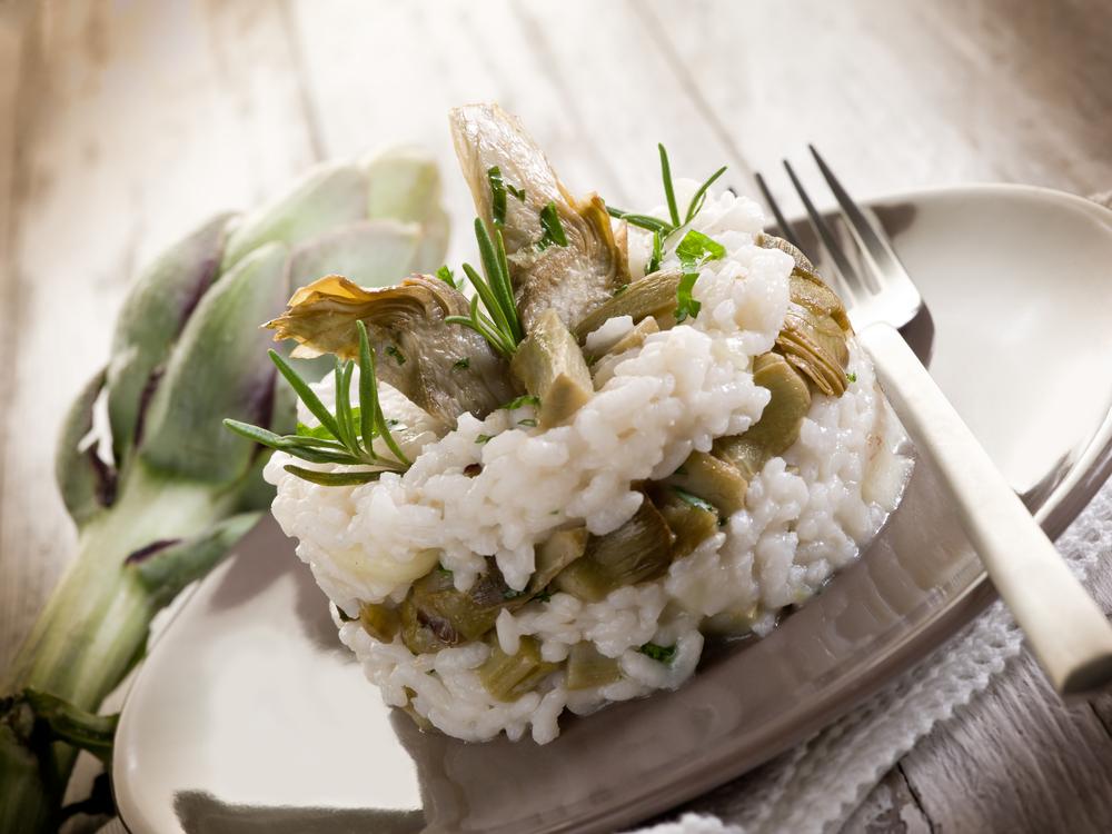ricetta risotto con carciofi light