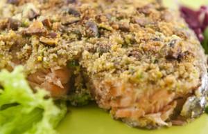 ricetta salmone in crosta di pistacchi