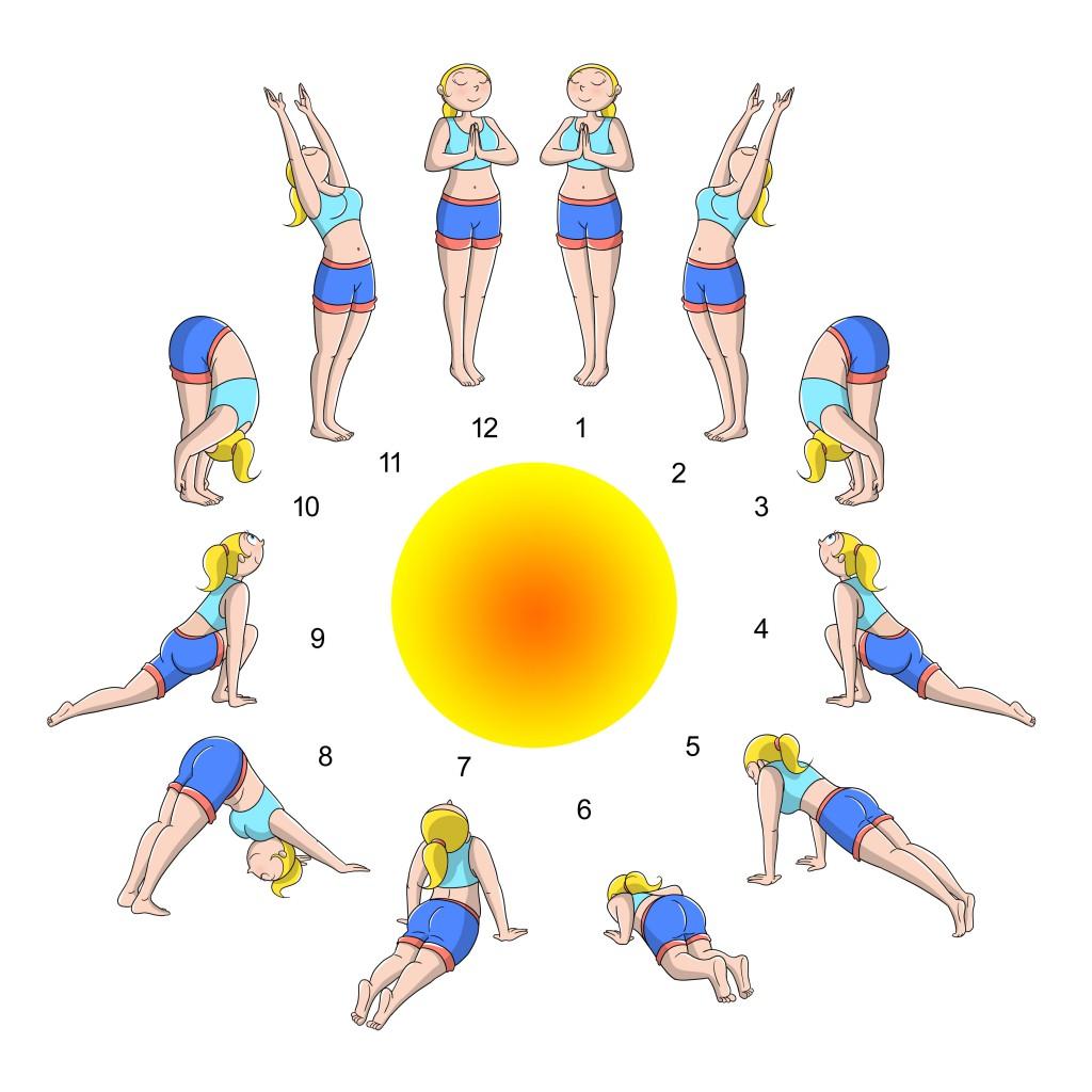 saluto al sole per rilassarsi e allungare i muscoli