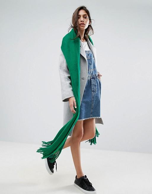 ASOS - Sciarpa lunga con nappe lavorata in morbidissima maglia