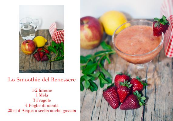 ricetta smoothie bicchiere frutta