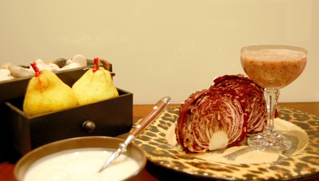 prova lo smoothie pere, radicchio e miele fatto da melarossa