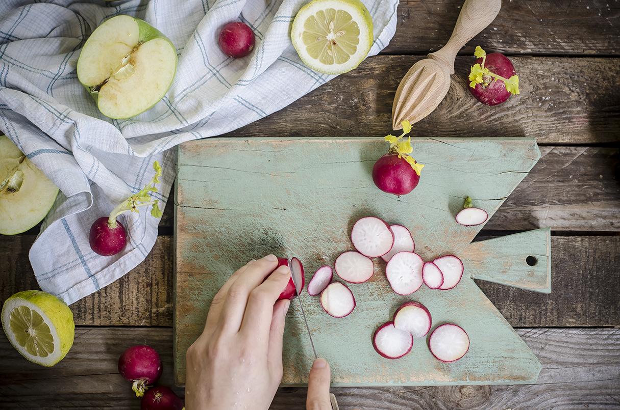 ricetta insalata miglio mela e basilico step due