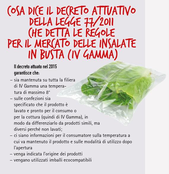 insalate in busta o fresche