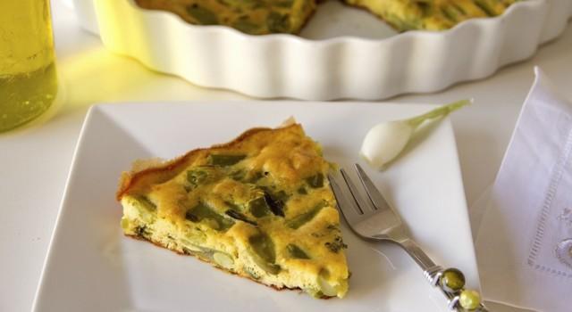 ricetta torta di fagiolini patate e uova