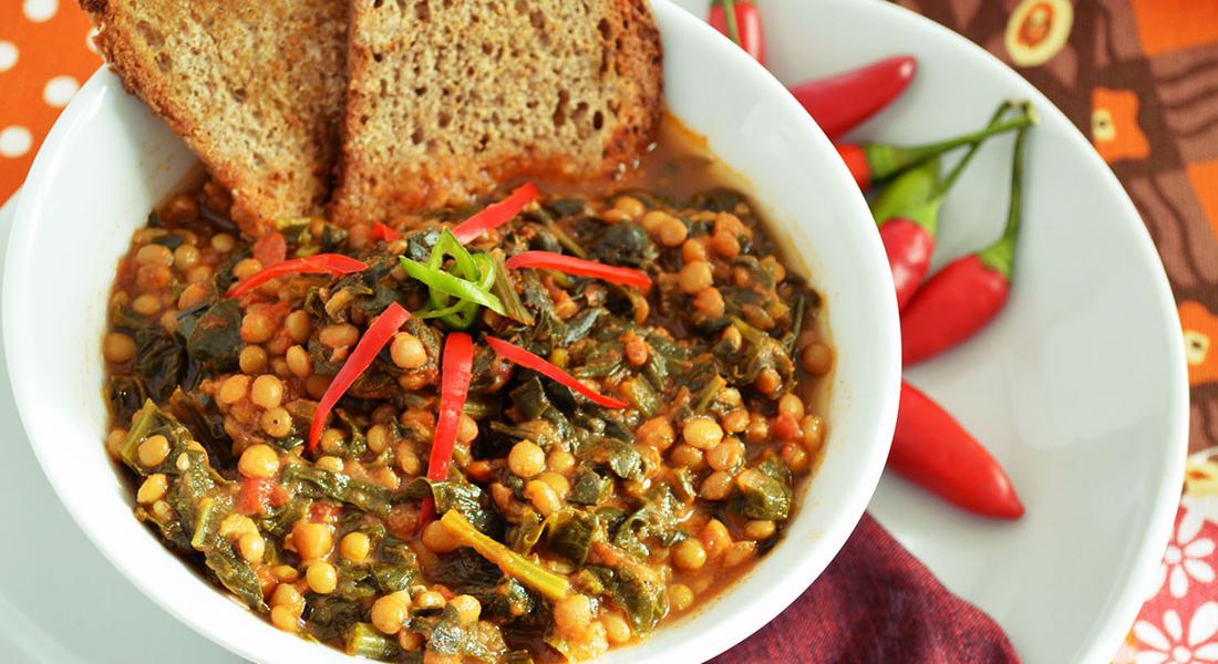 ricetta zuppa di lenticchie e spinaci