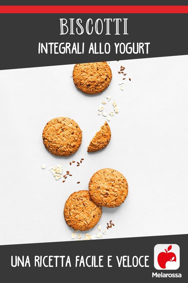 Biscotti integrali allo yogurt, ricetta facile e veloce