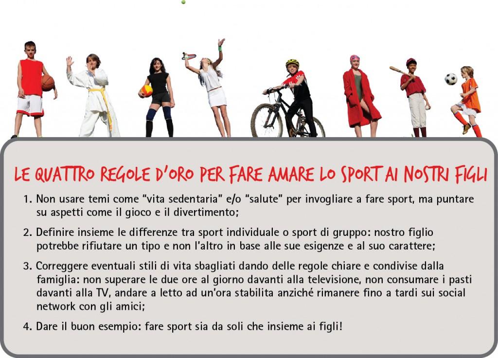 consigli per far piacere lo sport
