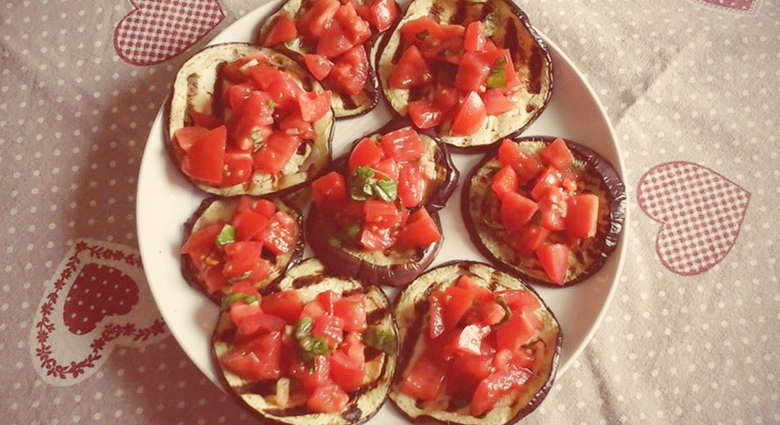 ricetta bruschette di melanzane