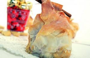 Cestini di pasta fillo, mele, mandorle e cannella