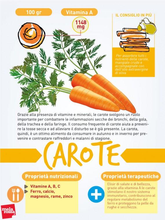 cibi contro raffreddore: carote