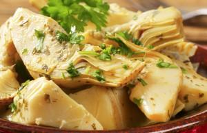 ricetta carciofi al tofu con aglio e prezzemolo