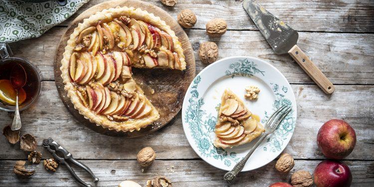 crostata di mele e noci light